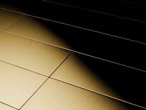 Mozaïektegels massief metaal titaan Gold geborsteld goud 1,6 mm dik ALLOY Bauhaus-Ti-GB – Bild 4