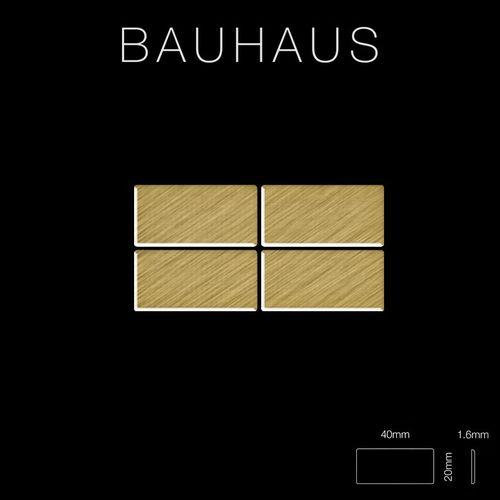 Mosaik Fliese massiv Metall Titan gebürstet in gold 1,6mm stark ALLOY Bauhaus-Ti-GB 1,05 m2 – Bild 2