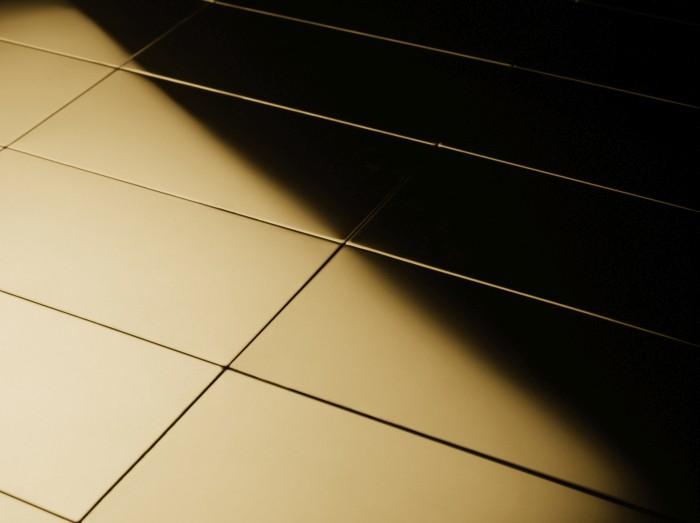 Mosaik Fliese Massiv Metall Titan Hochglänzend In Gold Mm Stark - Bauhaus online shop fliesen