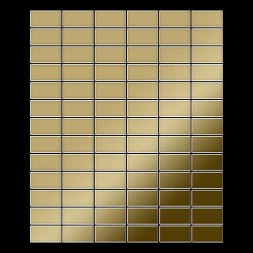 Mosaik Fliese massiv Metall Titan hochglänzend in gold 1,6mm stark ALLOY Bauhaus-Ti-GM 1,05 m2 – Bild 3