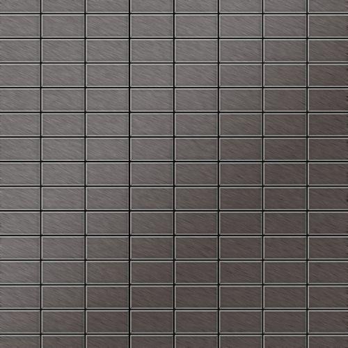 Mosaik Fliese massiv Metall Titan gebürstet in dunkelgrau 1,6mm stark ALLOY Bauhaus-Ti-SB 1,05 m2 – Bild 1
