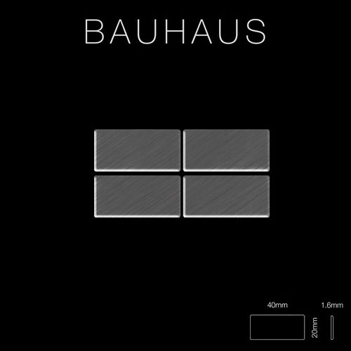 Mosaik Fliese massiv Metall Titan gebürstet in dunkelgrau 1,6mm stark ALLOY Bauhaus-Ti-SB 1,05 m2 – Bild 2