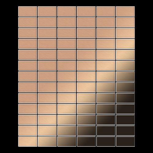 Azulejo mosaico de metal sólido Cobre laminado cobre 1,6 mm de grosor ALLOY Bauhaus-CM 1,05 m2 – Imagen 3