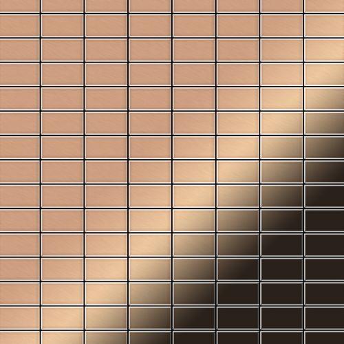 Azulejo mosaico de metal sólido Cobre laminado cobre 1,6 mm de grosor ALLOY Bauhaus-CM 1,05 m2 – Imagen 1