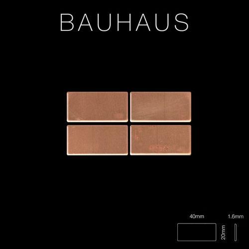 Mozaïektegels massief metaal gewalst koper koperrood 1,6 mm dik ALLOY Bauhaus-CM – Bild 2
