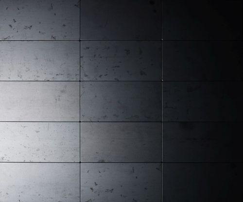 Mozaïektegels massief metaal gewalst ruw staal grijs 1,6 mm dik ALLOY Bauhaus-RS – Bild 4