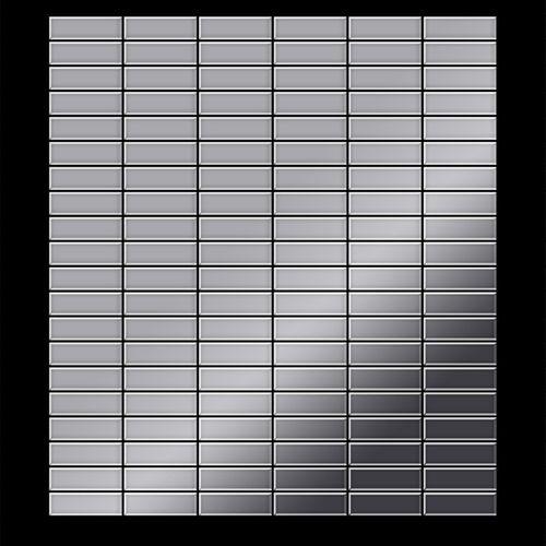 Mozaïektegels massief metaal roestvrij staal hoogglanzend grijs 1,6 mm dik ALLOY Cabin-S-S-M – Bild 3