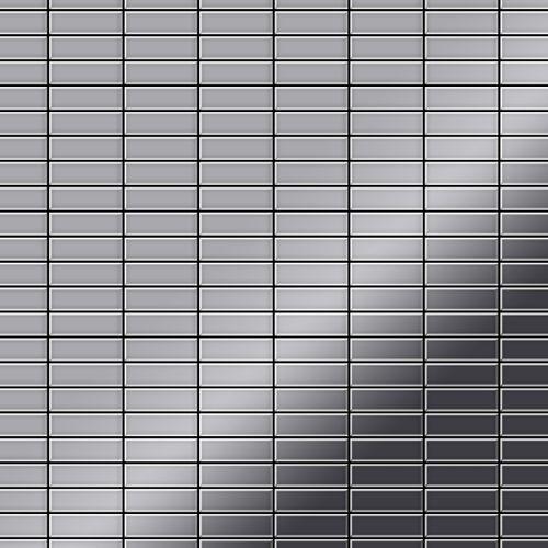 Mosaik Fliese massiv Metall Edelstahl marine hochglänzend in grau 1,6mm stark ALLOY Cabin-S-S-MM 1,01 m2 – Bild 1