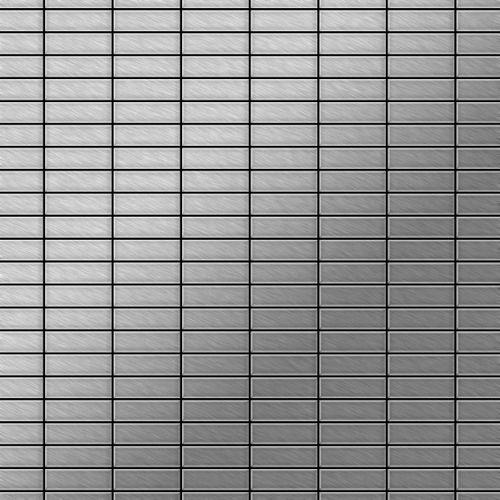 Mozaïektegels massief metaal roestvrij staal Marine geborsteld grijs 1,6 mm dik ALLOY Cabin-S-S-MB  – Bild 1