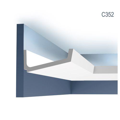 Dekor Profil Orac Decor C352 LUXXUS Eckleiste Zierleiste für indirekte Beleuchtung Wand Decken Stuckprofil 2 Meter – Bild 1
