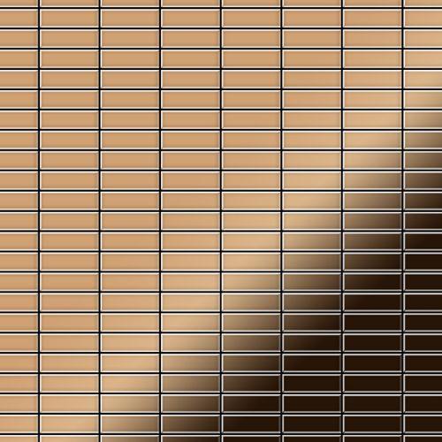 Mozaïektegels massief metaal titaan Amber hoogglanzend koperrood 1,6 mm dik ALLOY Cabin-Ti-AM – Bild 1
