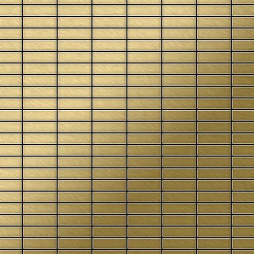 Mozaïektegels massief metaal titaan Gold geborsteld goud 1,6 mm dik ALLOY Cabin-Ti-GB – Bild 1