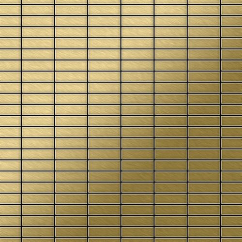 Mosaïque métal massif Carrelage Titane brossé Gold doré Grosseur 1,6mm ALLOY Cabin-Ti-GB 1,01 m2 – Bild 1