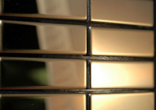 Mozaïektegels massief metaal titaan Gold hoogglanzend goud 1,6 mm dik ALLOY Cabin-Ti-GM – Bild 4