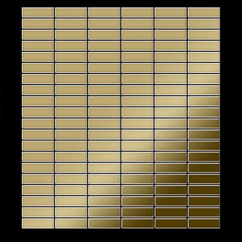 Mozaïektegels massief metaal titaan Gold hoogglanzend goud 1,6 mm dik ALLOY Cabin-Ti-GM – Bild 3