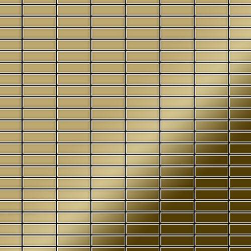 Mozaïektegels massief metaal titaan Gold hoogglanzend goud 1,6 mm dik ALLOY Cabin-Ti-GM – Bild 1