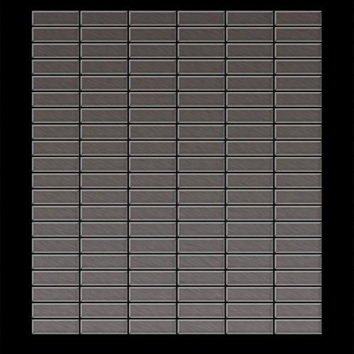 Mosaïque métal massif Carrelage Titane brossé Smoke gris foncé Grosseur 1,6mm ALLOY Cabin-Ti-SB 1,01 m2 – Bild 3