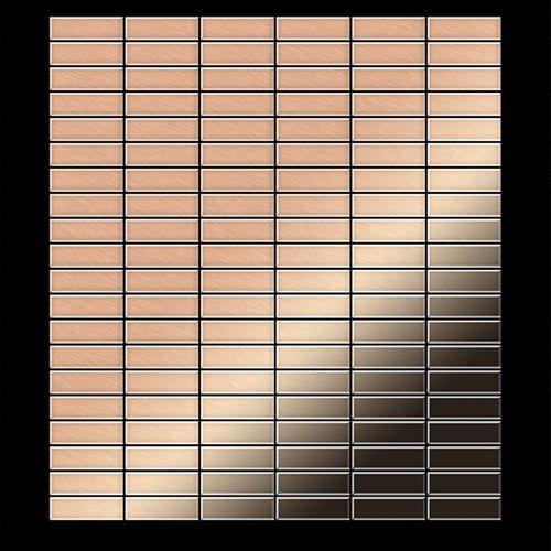 Mosaïque métal massif Carrelage Cuivre laminé cuivre Grosseur 1,6mm ALLOY Cabin-CM 1,01 m2 – Bild 3