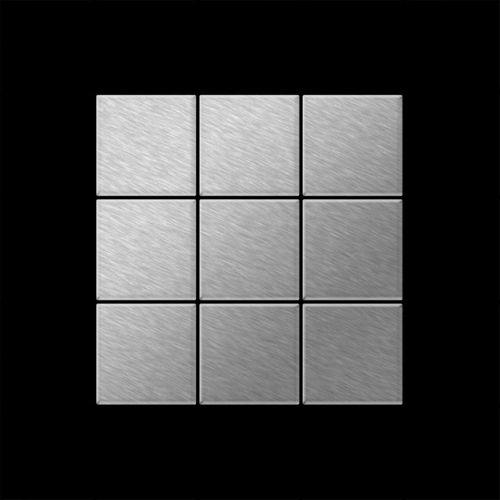 Mozaïektegels massief metaal roestvrij staal geborsteld grijs 1,6 mm dik ALLOY Century-S-S-B – Bild 3