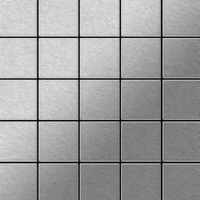Metal Mosaic Tile Stainless Steel brushed grey 1,6mm Century-S-S-B