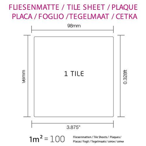 Mozaïektegels massief metaal roestvrij staal hoogglanzend grijs 1,6 mm dik ALLOY Century-S-S-M – Bild 7