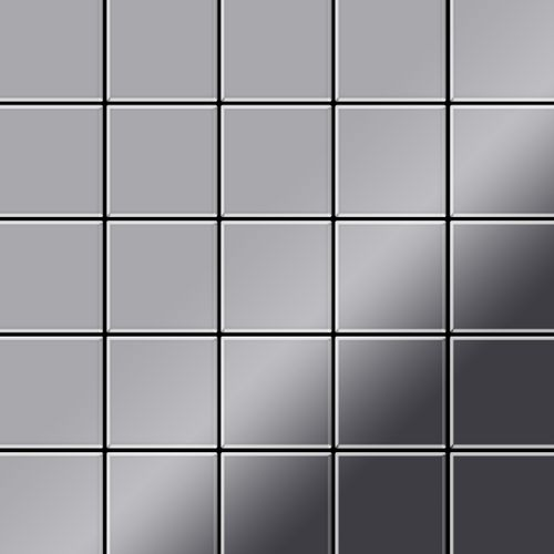 Mozaïektegels massief metaal roestvrij staal Marine hoogglanzend grijs 1,6 mm dik ALLOY Century-S-S-MM  – Bild 1