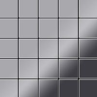 Metal Mosaic Tile Stainless Steel marine mirror grey 1,6mm Century-S-S-MM