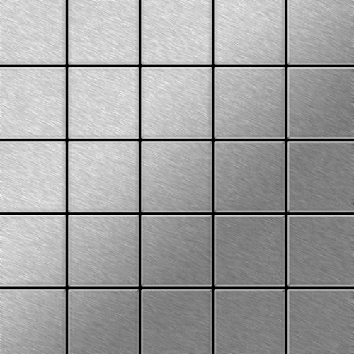 Metal Mosaic Tile Stainless Steel marine brushed grey 1,6mm Century-S-S-MB