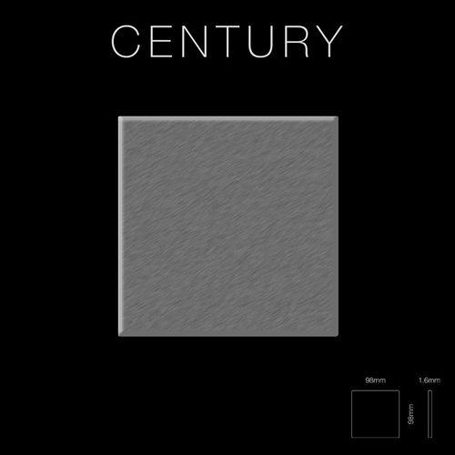 Mozaïektegels massief metaal roestvrij staal Marine geborsteld grijs 1,6 mm dik ALLOY Century-S-S-MB  – Bild 2