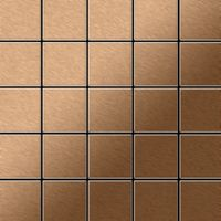 Metal Mosaic Tile Titanium Amber brushed copper 1,6mm Century-Ti-AB