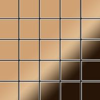 Metal Mosaic Tile Titanium Amber mirror copper 1,6mm Century-Ti-AM