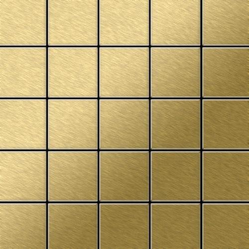 Metal Mosaic Tile Titanium Gold brushed gold 1,6mm Century-Ti-GB – Bild 1