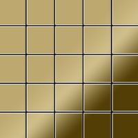 Metal Mosaic Tile Titanium Gold mirror gold 1,6mm Century-Ti-GM