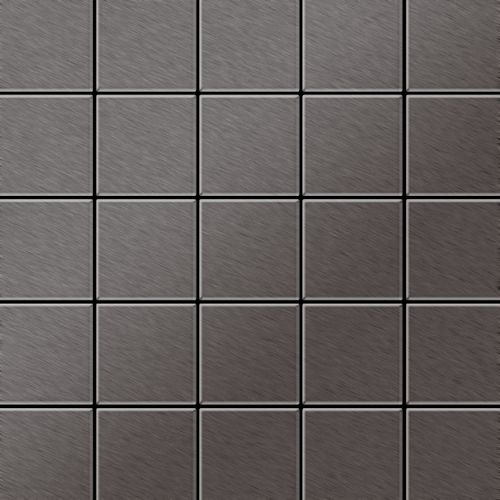 Metal Mosaic Tile Titanium Smoke brushed dark grey 1,6mm Century-Ti-SB