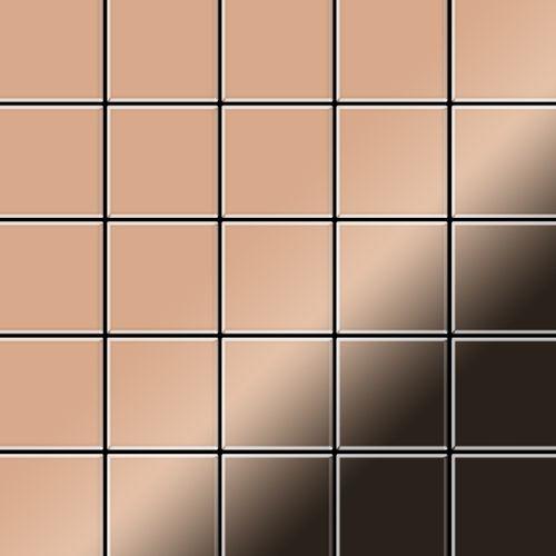 Mosaik Fliese massiv Metall Kupfer gewalzt in kupfer 1,6mm stark ALLOY Century-CM 0,5 m2 – Bild 1