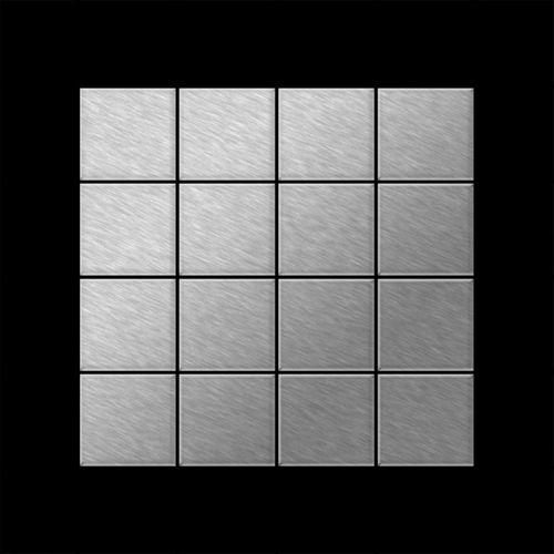 Mozaïektegels massief metaal roestvrij staal geborsteld grijs 1,6 mm dik ALLOY Cinquanta-S-S-B – Bild 3