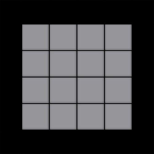 Mozaïektegels massief metaal roestvrij staal matglanzend grijs 1,6 mm dik ALLOY Cinquanta-S-S-MA – Bild 3