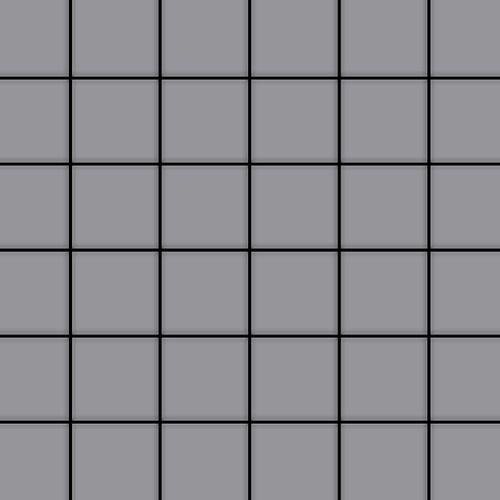 Mozaïektegels massief metaal roestvrij staal matglanzend grijs 1,6 mm dik ALLOY Cinquanta-S-S-MA – Bild 1