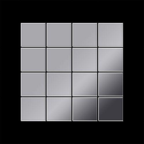 Mosaico metallo solido Acciaio inossidabile Marine specchiato grigio spesso 1,6 mm ALLOY Cinquanta-S-S-MM – Bild 3