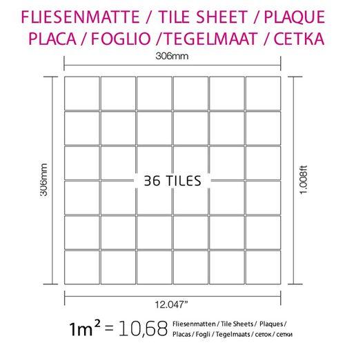 Mosaik Fliese massiv Metall Titan gebürstet in kupfer 1,6mm stark ALLOY Cinquanta-Ti-AB 0,94 m2 – Bild 4