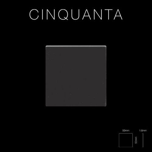 Mosaik Fliese massiv Metall Titan hochglänzend in dunkelgrau 1,6mm stark ALLOY Cinquanta-Ti-SM 0,94 m2 – Bild 2