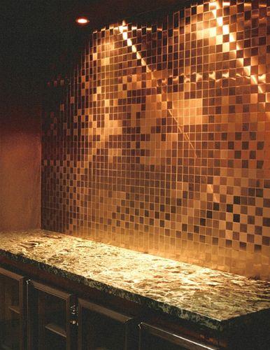 Mosaik Fliese massiv Metall Kupfer gewalzt in kupfer 1,6mm stark ALLOY Cinquanta-CM 0,94 m2 – Bild 4