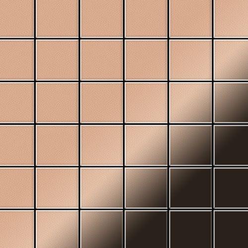 Mosaïque métal massif Carrelage Cuivre laminé cuivre Grosseur 1,6mm ALLOY Cinquanta-CM 0,94 m2 – Bild 1