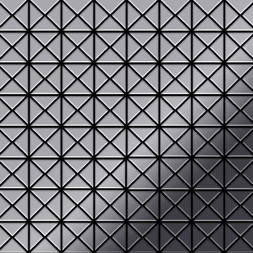 Mozaïektegels massief metaal roestvrij staal hoogglanzend grijs 1,6 mm dik ALLOY Deco-S-S-M – Bild 1