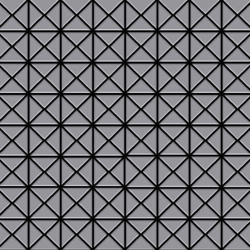 Mozaïektegels massief metaal roestvrij staal matglanzend grijs 1,6 mm dik ALLOY Deco-S-S-MA – Bild 1