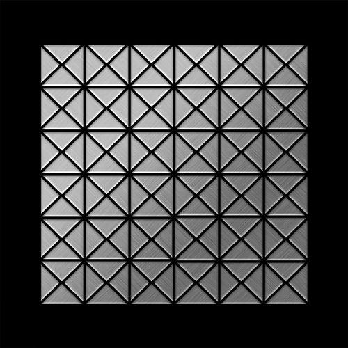 Mosaico metallo solido Acciaio inossidabile Marine spazzolato grigio spesso 1,6 mm ALLOY Deco-S-S-MB – Bild 3