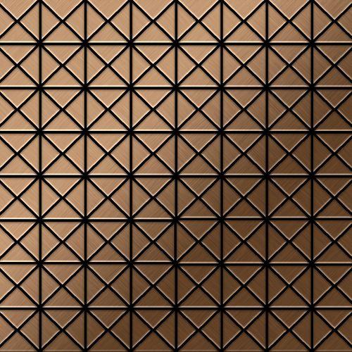 Mozaïektegels massief metaal titaan Amber geborsteld koperrood 1,6 mm dik ALLOY Deco-Ti-AB – Bild 1