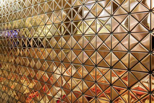 Mozaïektegels massief metaal titaan Amber geborsteld koperrood 1,6 mm dik ALLOY Deco-Ti-AB – Bild 4