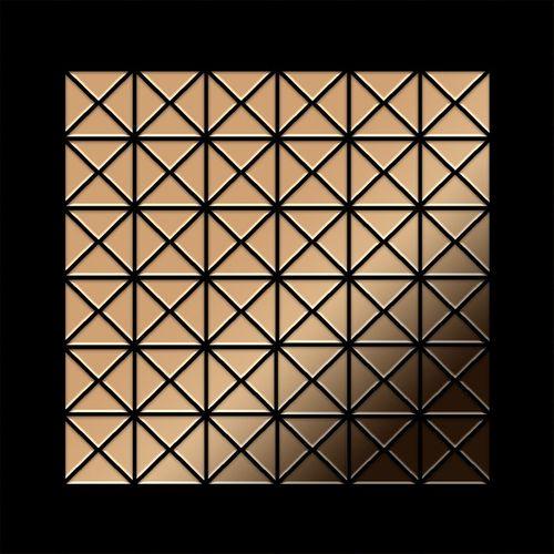 Mosaik Fliese massiv Metall Titan hochglänzend in kupfer 1,6mm stark ALLOY Deco-Ti-AM 0,92 m2 – Bild 3