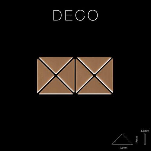Mosaico metallo solido Titanio specchiato Amber rame spesso 1,6 mm ALLOY Deco-Ti-AM – Bild 2